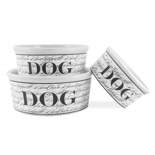 Ceramic Bowl for Dogs Food - S M L - Bon Chien