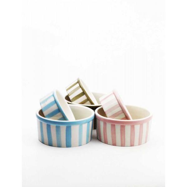 Ciotola in Ceramica Per Cani -  Decorata a Mano