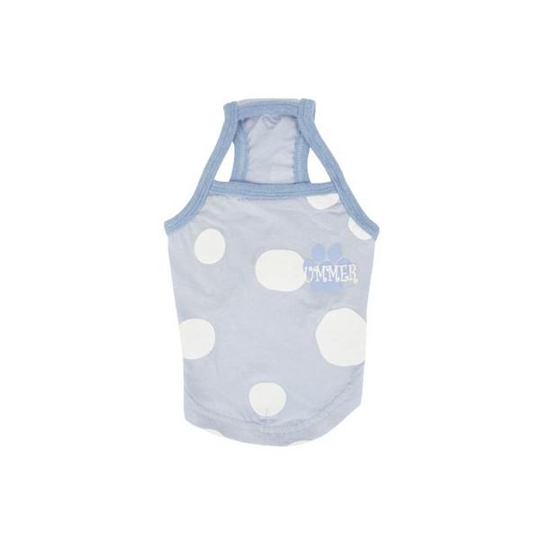 Pinkaholic - Big Polka Dots Tank Top - Ladonna Narb - Blue