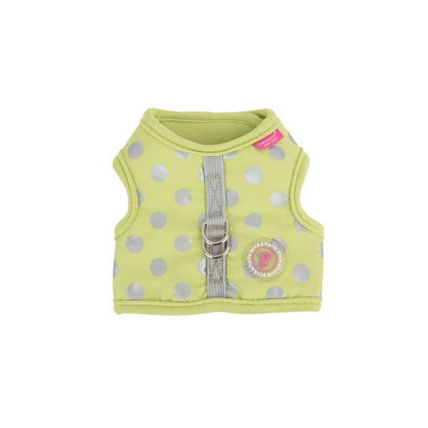 Pinkaholic - Polka Dots Adjustable Harness - Chic Pinka Harness Nara - Lime
