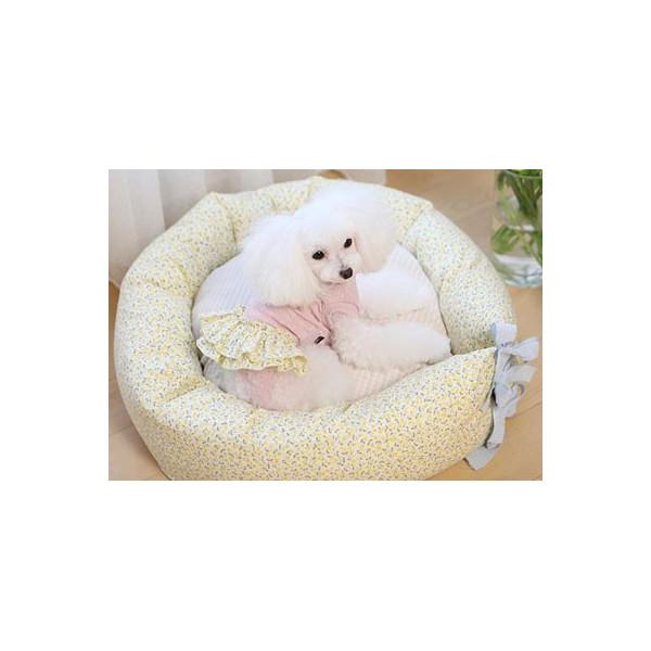 Boris House - Cuscino Cuccia a Fiori per Cani - Floral Cushion Rosa