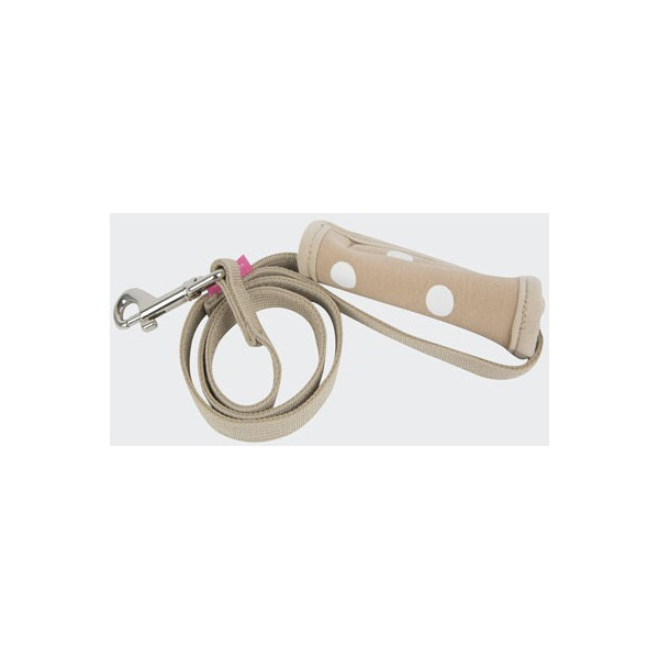 Pinkaholic - Polka Dot Leash - Sassa Leash Nara - Beige