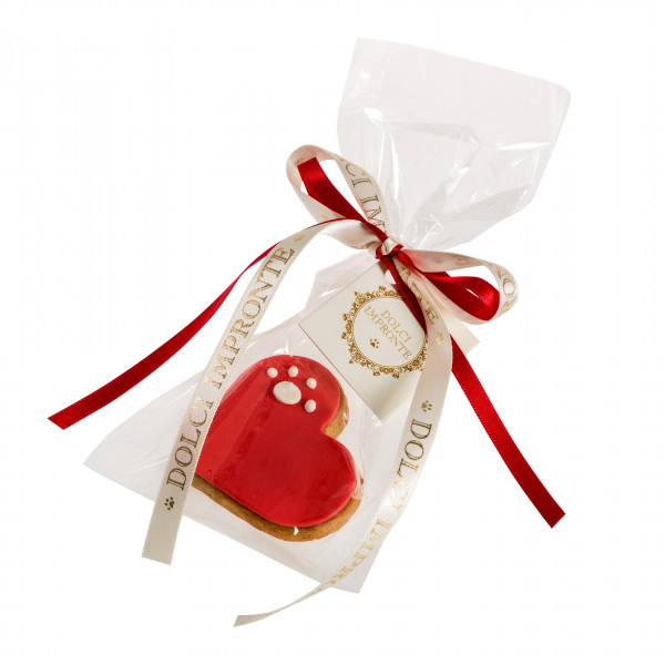 Dolcimpronte - LOVE PAW RED - Confezione singola - 25 gr ( ASL Prot.0088901/16)