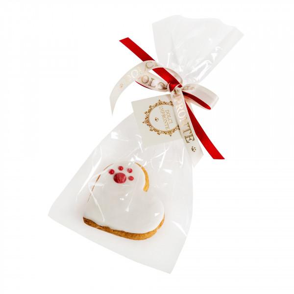 Dolcimpronte - Cuore bianco con zampina LOVE PAW WHITE - Confezione singola - 25 gr ( ASL Prot.0088901/16)