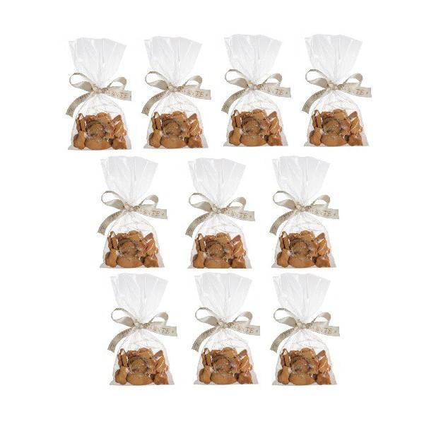 Dolcimpronte - Confezione 10 Sacchetti  di Biscotti Mignon 50gr da vendere singolarmente ( ASL Prot.0088901/16)
