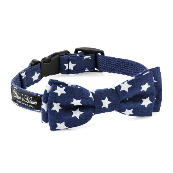 Chloe's House Bow Tie Premium Star Navy