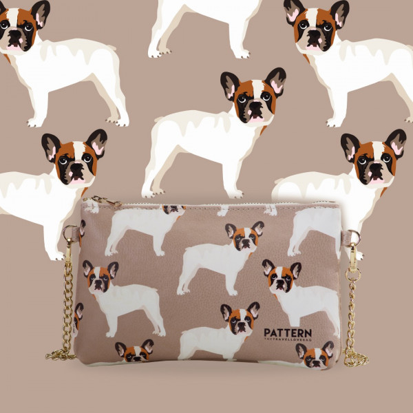 Pattern Pocket Case Miss Week End Bulldog Tiffany