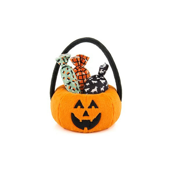 Halloween Pumpkin Basket - with 3 pcs of Squeaker-filled Candies