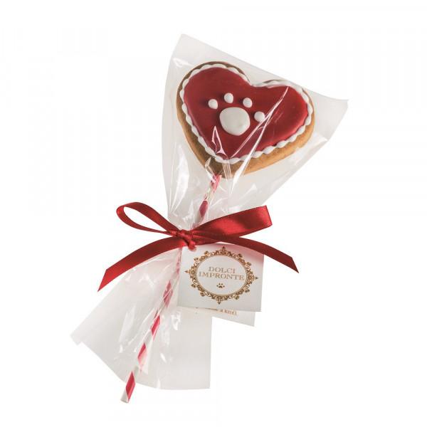Dolci Impronte ®- red paw lollipop  gr 40