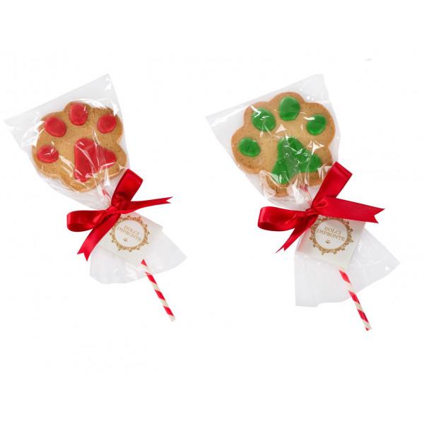 Dolcimpronte® -Xmas Lollipop Paw - Rosso e Verde - gr 45