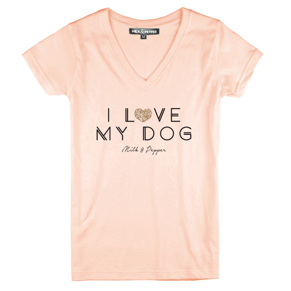 Milk&Pepper - Woman T Shirt I Love My Dog