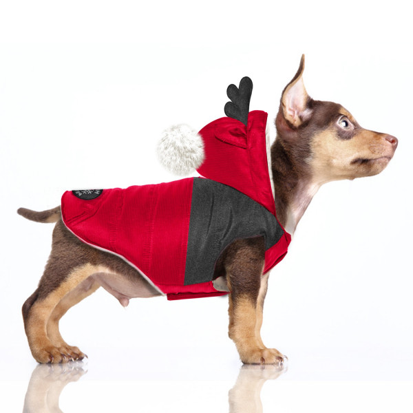 Milk & Pepper - Hanki Red- Christmas Coat with Ponpon