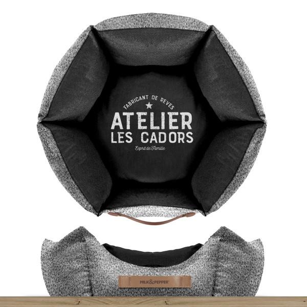 Milk & Pepper - 55 Black Hexagonal Sofa - 55x20h - Atelier