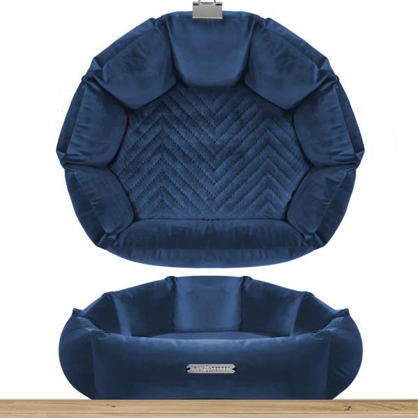 Milk & Pepper - 38 Sofa Coquille - Night Blue - 38x15h - St. Germain