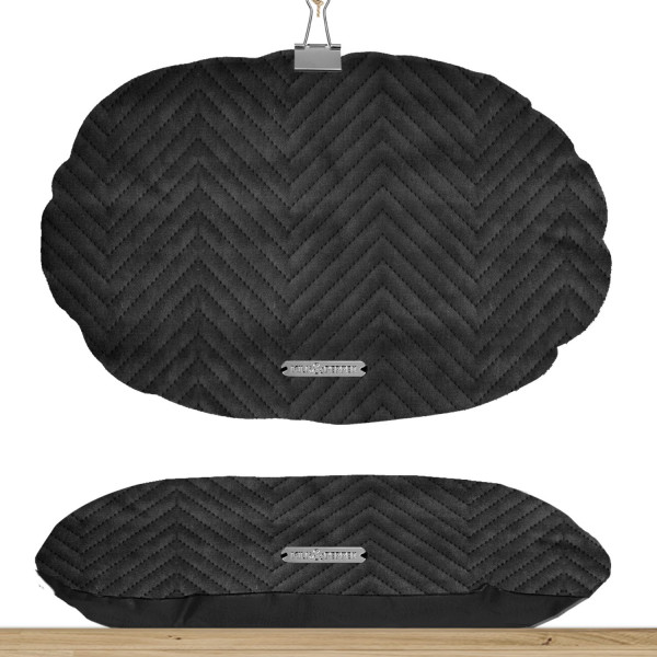 Milk & Pepper - Black Oval Cushion - T4 - 75x45x7h - St. Germain