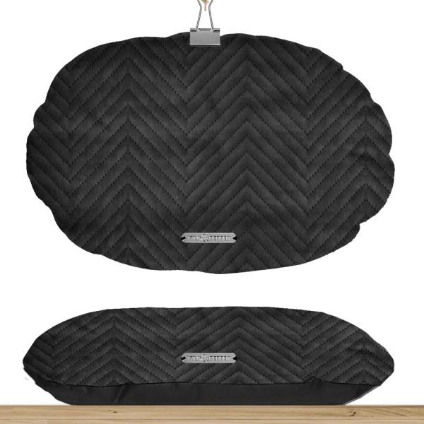 Milk & Pepper - Black Oval Cushion - T3 - 65x40x6h - St. Germain
