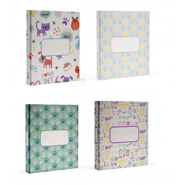 MYDOQS- Pack of 12  Pet Mixed Document Binders