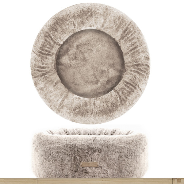 Milk & Pepper - Lagom Faux Fur Bed - Round - Beige 60x23h cm
