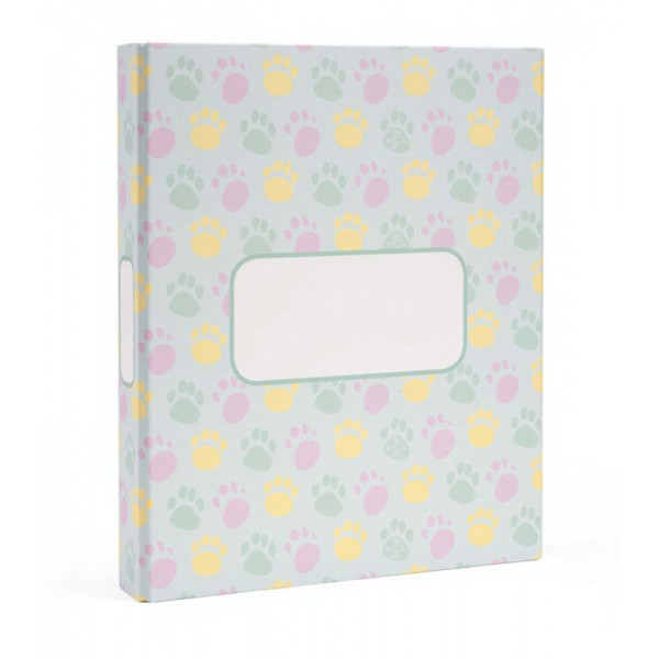 MYDOQS-Pet Document Binder - Colored Paws