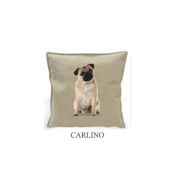 Cushion 40x40cm - Pug - Made in Italy 40x40cm