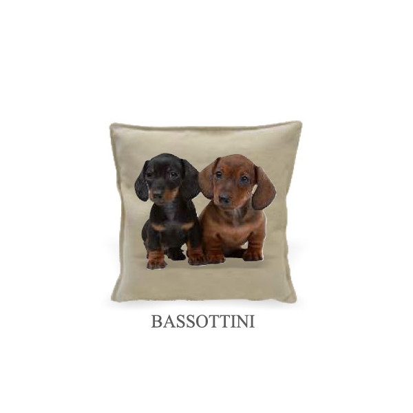 Home cushion 40x40cm - Dachshunds - Made in Italy
