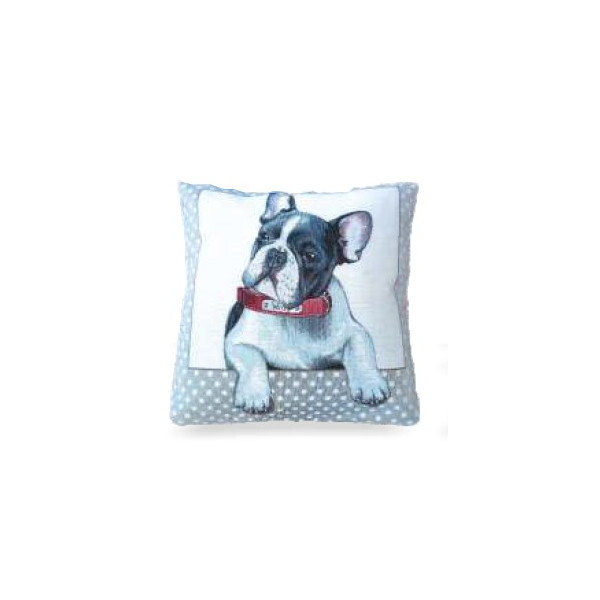 Cushion 40x40cm - Bulldog Willy - Made in Italy