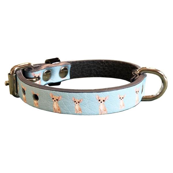 MQ- Light Blue Chihuahua collar