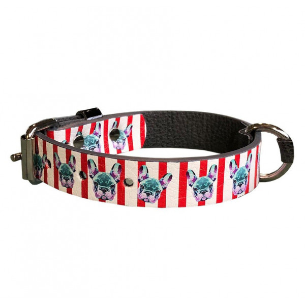 MQ- Bulldog Print Collar