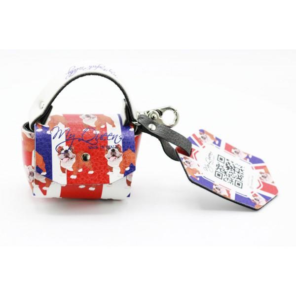 MQ- Mini Bag - Ecopelle Stampata UK e Bulldog