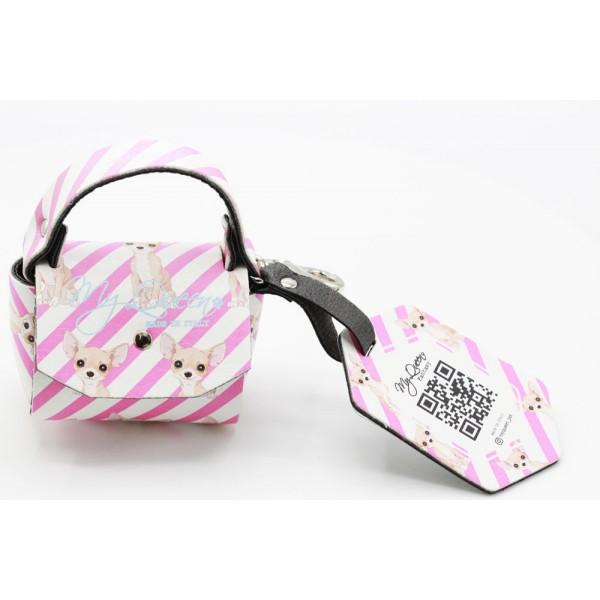 MQ- Mini Bag - Pink Printed Faux Leather - Miss.Chihuahua