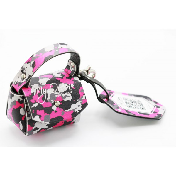 MQ- Mini Bag - Camouflage Printed Faux Leather - Pink -