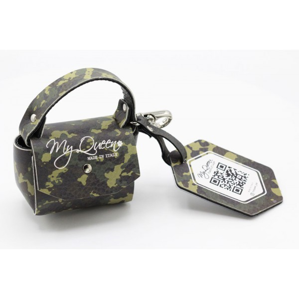MQ- Mini Bag - Military Camouflage Printed Faux Leather