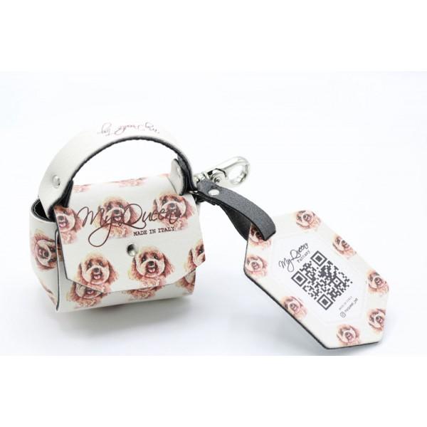 MQ- Mini Bag - Poodle Printed Faux Leather - Ivory