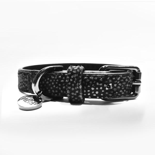 Milk & Pepper - Jaguar - Printed Leather Collar - Black -