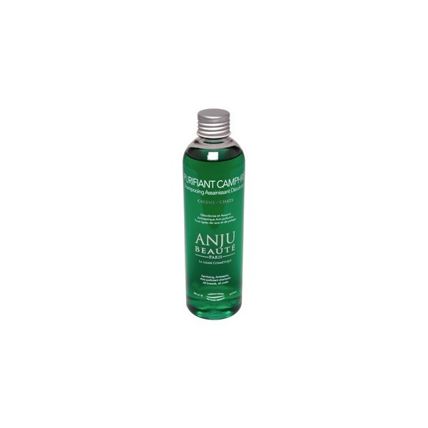 Anju Beauté - Shampoo for Dogs and Cats - Antiseptic- Purifiant Camphre- 250 ml