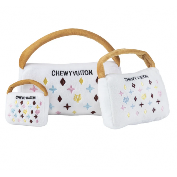 HDD- White Chewy Vu Purse - Small