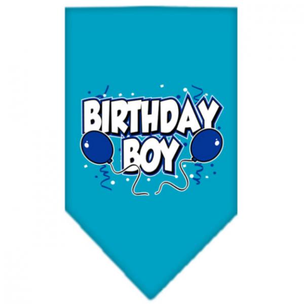 MR- Bandana Boy Turquoise - Happy Birthday - S L-