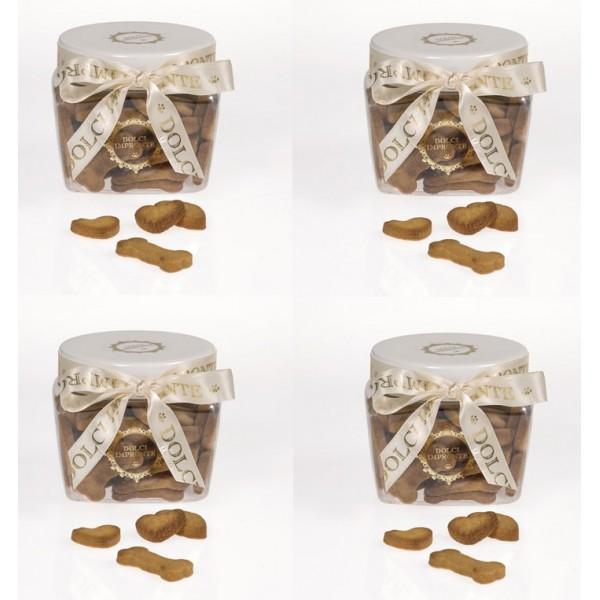Dolci Impronte® - 4 Jars - Mignon Biscuits 230gr