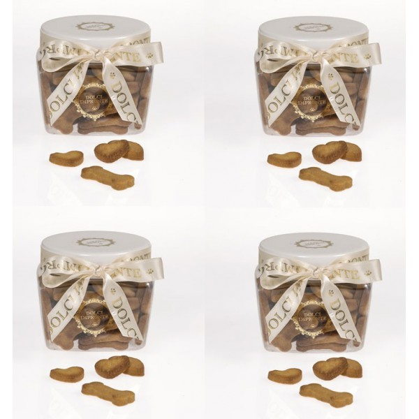 Dolci Impronte® - 4 Vasi - Biscotti Mignon 230gr